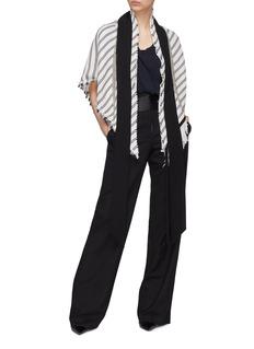 J.Cricket 'Olympia+' chain fringe stripe knit triangle scarf