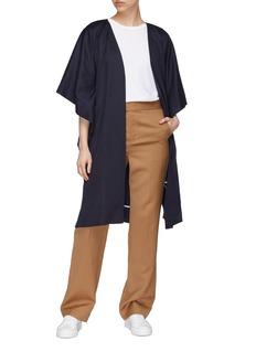 J.Cricket Side split cashmere open robe coat