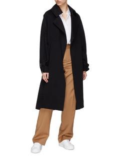 J.Cricket 'Trapez' sash cuff epaulette belted cashmere trench coat