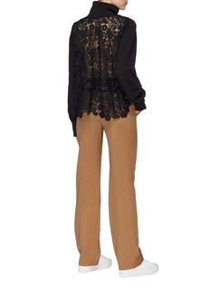 J.Cricket Guipure lace back high neck sweatshirt