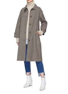 Mijeong Park Belted detachable throat latch oversized houndstooth coat