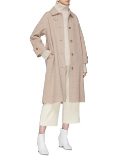 Mijeong Park Belted detachable throat latch oversized coat
