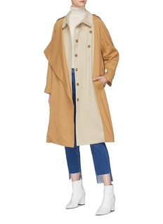 Mijeong Park Belted colourblock panel trench coat