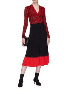 Proenza Schouler Drop stitch rib knit cardigan