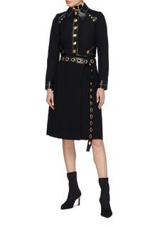 Proenza Schouler Rivet belted pleated bouclé skirt