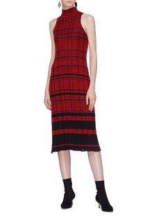 Proenza Schouler Drop stitch rib knit dress