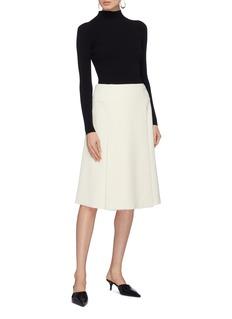 Proenza Schouler Godet bouclé wrap skirt
