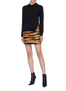 Proenza Schouler Asymmetric zip back rib knit sweater