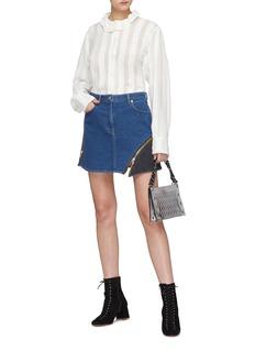 Sonia Rykiel Colourblock zip panel denim skirt
