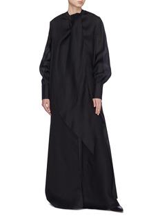 The Row 'Adesuwa' detachable coat silk sleeveless gown