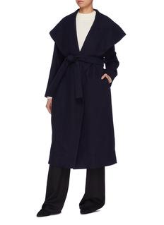 The Row 'Utan' belted cape collar melton wrap coat