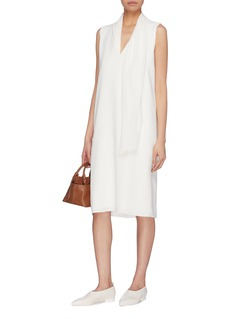 The Row 'Flynn' detachable scarf neck tie shift dress