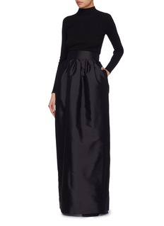 The Row 'Ranel' puffed silk maxi skirt