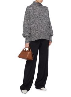 The Row 'Pheliana' marled cashmere turtleneck sweater
