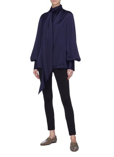 The Row 'Asta' tie neck blouson sleeve blouse
