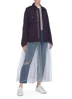Tu Es Mon Trésor 'We Need You' detachable skirt slogan appliqué dress
