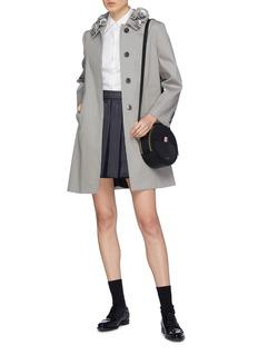 Thom Browne Rose appliqué collar coat