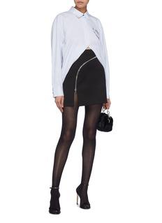 Alexander Wang  Curved zip mini skirt