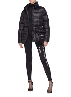 Alexander Wang  Credit card textured print oversized down puffer jacket