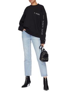 Alexander Wang  'Credit Card' textured print sweatshirt