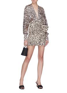 Silvia Tcherassi 'Emily' batwing sleeve leopard print silk blouse