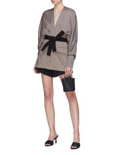 Silvia Tcherassi 'Charlotte' belted pinstripe silk-cotton jacket