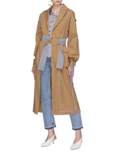 Silvia Tcherassi 'Casablanca' belted gingham check border trench coat