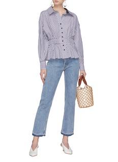 Silvia Tcherassi 'Emma' stripe button peplum blouse