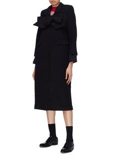 Shushu/Tong Interchangeable bow wool melton coat
