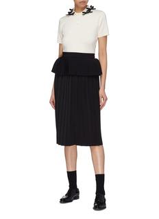 Shushu/Tong Peplum waist pleated skirt