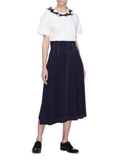 Shushu/Tong Bow collar T-shirt
