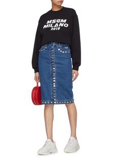 MSGM Button denim skirt