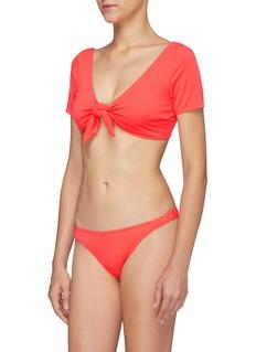 Solid & Striped 'The Vanessa' tie front bikini top