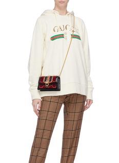 Gucci 'Sylvie' mini leather velvet crossbody bag