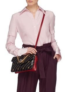 Gucci 'Thiara' glass crystal tiger leather medium crossbody bag