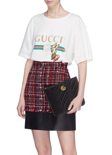 Gucci 'GG Marmont' quilted velvet pouch