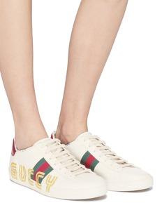 Gucci 'Ace' glitter logo print sneakers
