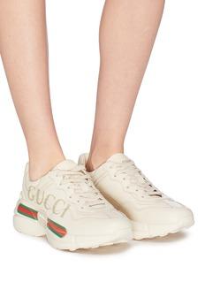 Gucci 'Rhyton' logo print leather sneakers