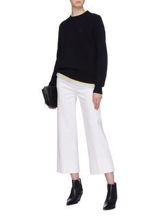 Acne Studios 'Nalon Face' patch wool sweater