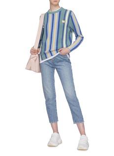 Acne Studios 'Nalon Boucle Face' patch stripe sweater