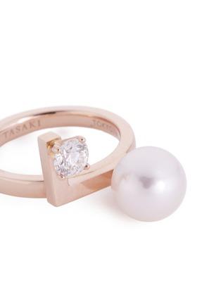 Detail View - Click To Enlarge - Tasaki - Diamond Akoya pearl 18k rose gold ring
