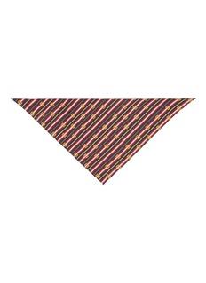 Gucci 'Bouquet Chain' print silk scarf