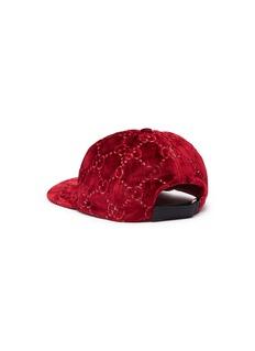 Gucci GG logo embroidered velvet baseball cap