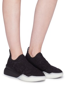 Stella McCartney Corded lace overlay knit sock sneakers