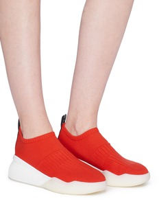 Stella McCartney Mixed knit sock sneakers