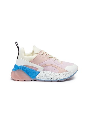 Main View - Click To Enlarge - Stella McCartney - 'Eclypse' faux suede and leather chunky outsole sneakers