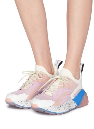 Figure View - Click To Enlarge - Stella McCartney - 'Eclypse' faux suede and leather chunky outsole sneakers