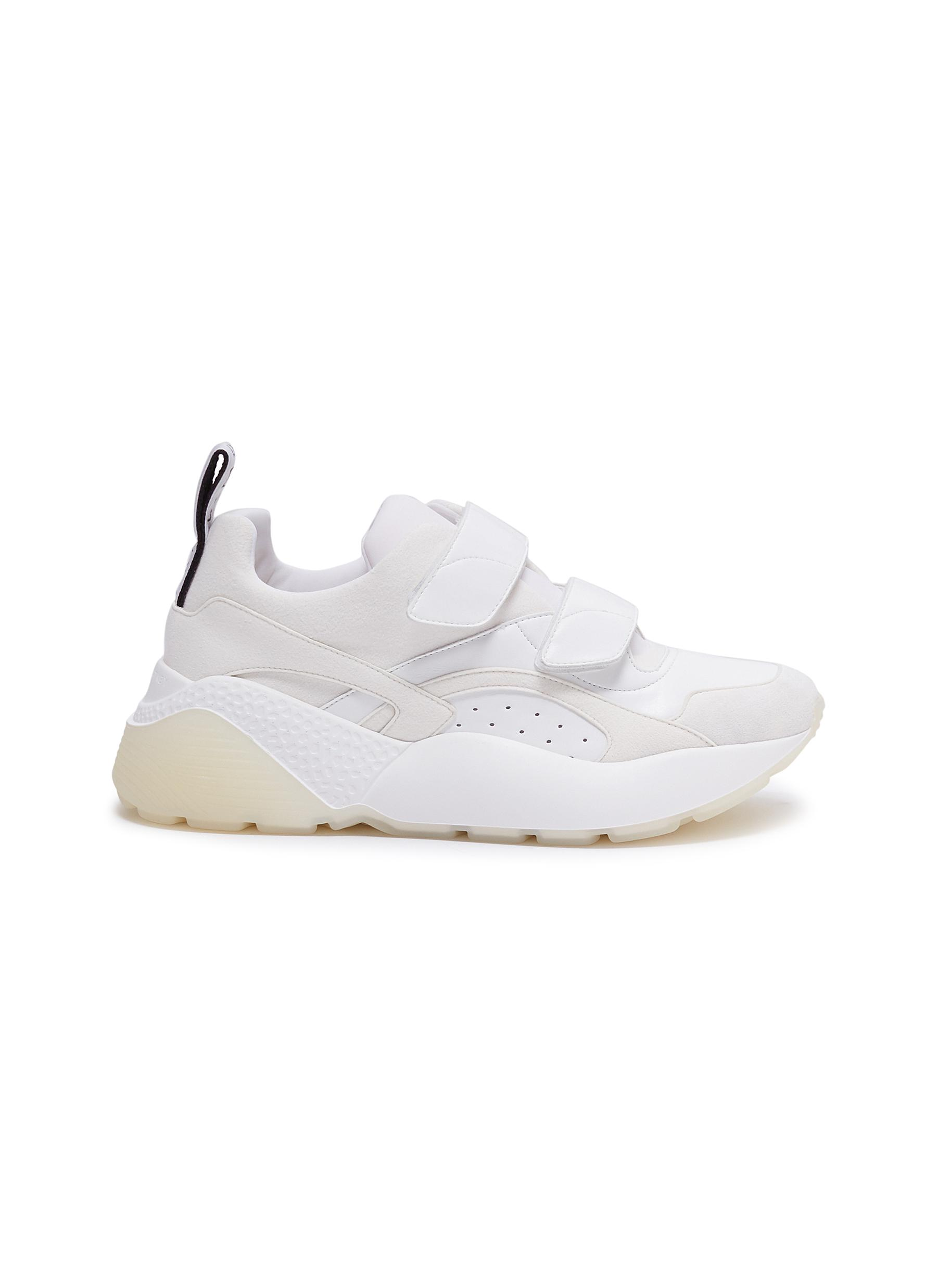 Eclypse faux leather and suede sneakers by Stella Mccartney
