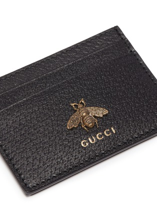fd58409c65b717 Detail View - Click To Enlarge - GUCCI - 'Animalier' bee embellished  leather card