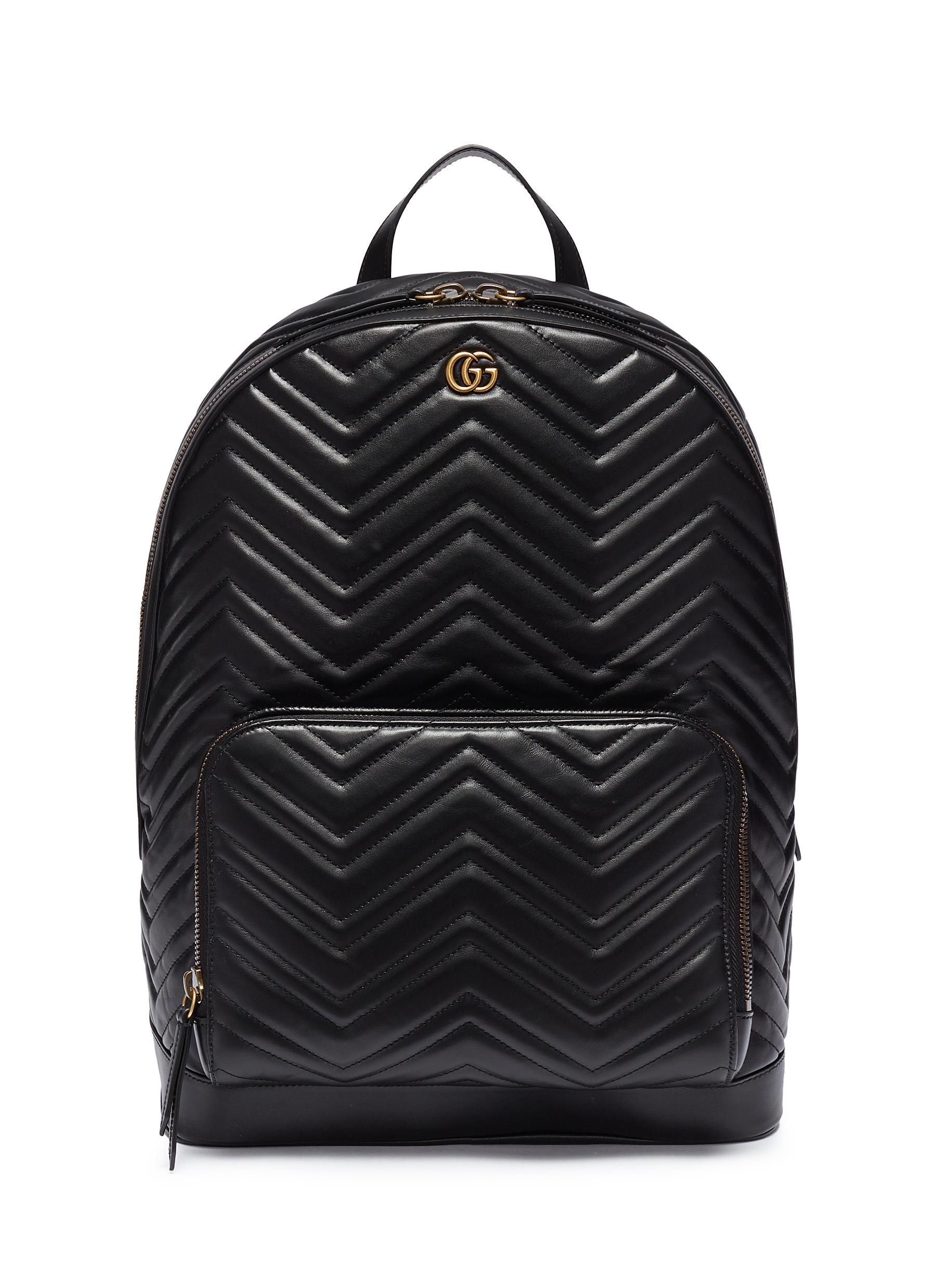 b1cee46ed67 Gucci.  GG Marmont  matelassé leather backpack